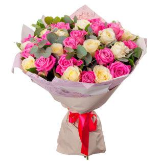 Букет «Розовая радость»