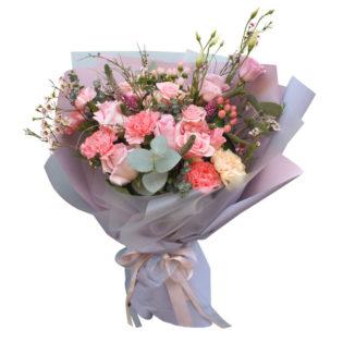 Букет «Розовое сияние»