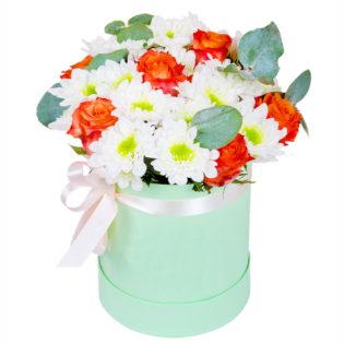 Цветы в коробке «Глория»