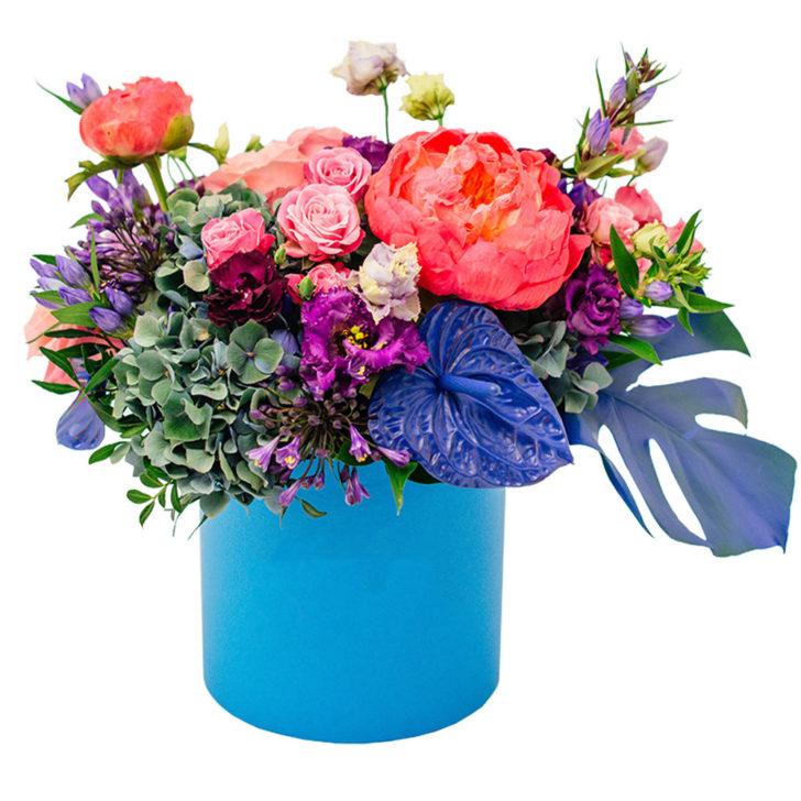 """Цветы в коробке """"Нежное признание"""""""