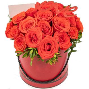 Цветы в коробке «Рубин»