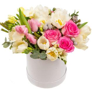 Цветы в коробке «Цветник»