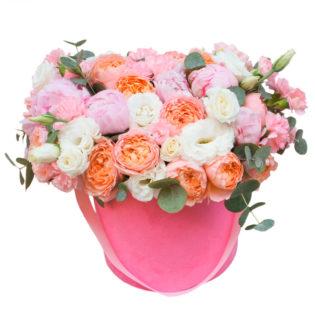 Цветы в коробке «Ювента»