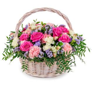 Цветы в корзинке «Объятия любимой»