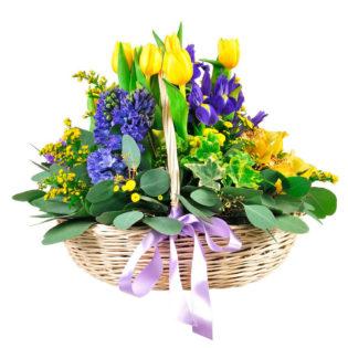 Цветы в корзинке «Прекрасное начало»