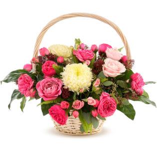Цветы в корзинке «Цветочный коктейль»